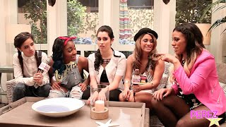 EXCLUSIVE! Fifth Harmony Talk NKOTB,  Acting & Fake Accents On The Set Of MTV's