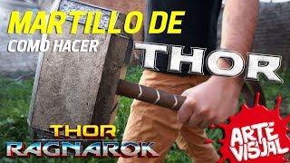 COMO HACER EL MARTILLO DE THOR / MJOLNIR DIY THOR RAGNAROK HAMMER @thorofficial @MarvelLATAM