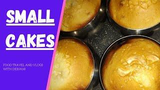 HOW TO MAKE CAKE  CAKE RECIPE  EASY CAKE RECIPE  SMALL CAKES   FOOD TRAVEL AND VLOG WITH DEBJANI