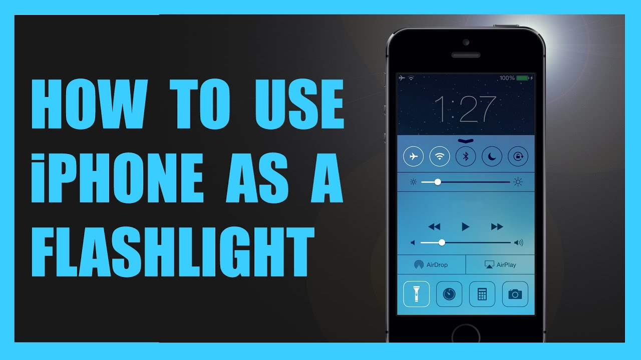 how to turn on flashlight on iphone 7