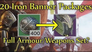 Destiny 2 - Will 20 Iron Banner Packages Get Me The Armour/Weapon Set? (400 Iron Banner Tokens)