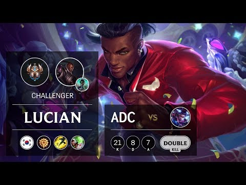 Lucian ADC vs Vayne - KR Challenger Patch 9.24