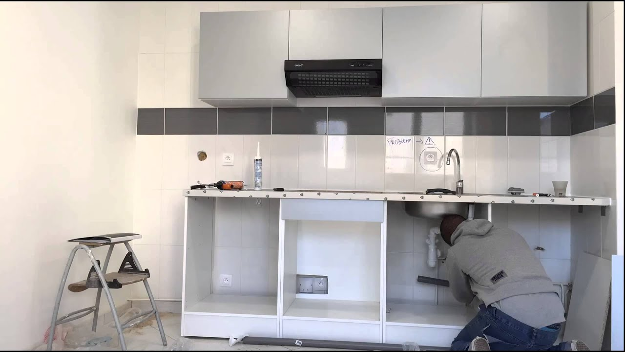montage cuisine spring alu de leroy merlin by theo conception youtube. Black Bedroom Furniture Sets. Home Design Ideas