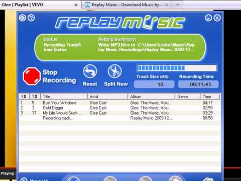 Audio Recorder - How to Record/Save/Capture a Vevo Playlist/Songs with Replay Music