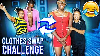 Clothes Swap Challenge!! **So UNCOMFORTABLE**😭