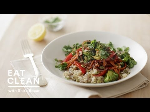 Vegetable Stir-Fry with Cauliflower Rice Eat Clean with Shira Bocar