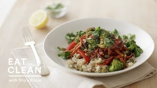 Vegetable Stir-fry With Cauliflower Rice - Eat Clean With Shira Bocar