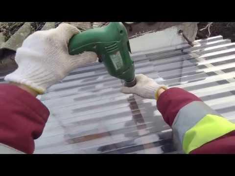 Пластиковая ПРОЗРАЧНАЯ КРЫША из ПВХ на крытый выгул в птичник / СВОИМИ РУКАМИ
