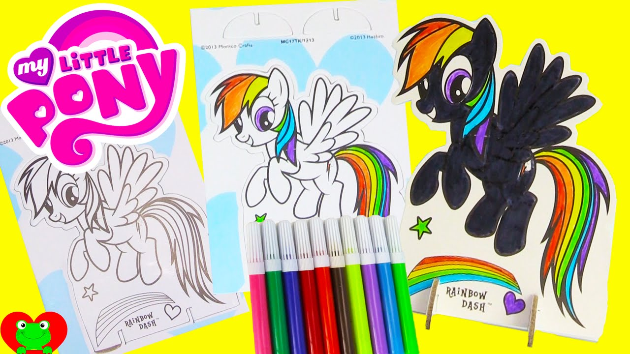 my little pony pop outz rainbow dash coloring and surprises youtube
