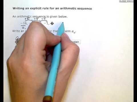 Writing An Explicit Rule For An Arithmetic Sequence (KC)