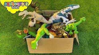 Dinosaur FIGHTS in box! Skyheart Toys Jurassic Battle arlo indominux rex zoomer