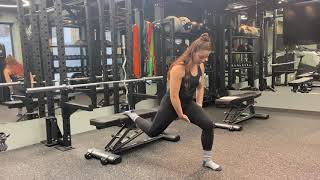 Back Foot Elevated Split Squat Walkthrough | Beth Lavis Fitness