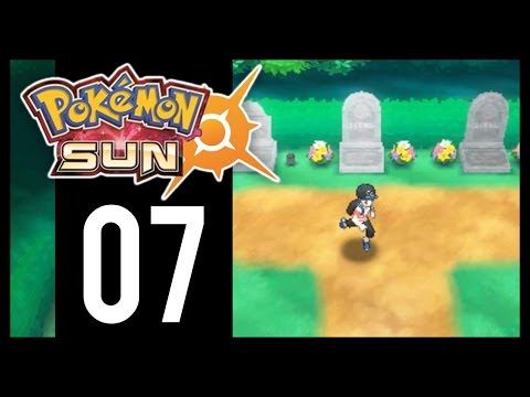 Pokemon Sun and Moon - Gameplay Walkthrough Part 7 - Hau'oli Cemetery (3DS)