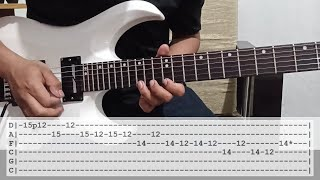 Bullet For My Valentine The Poison guitar solo lesson with tab (tutorial)
