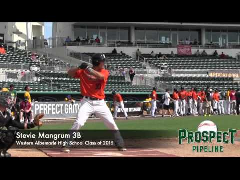 Stevie Mangrum Prospect Video, 3B, Western Albemarle High School Class of 2015