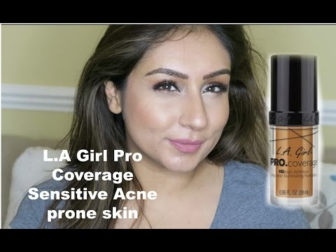 Review & Demo L.A Girl Pro Coverage Foundation  | RajiOsahn