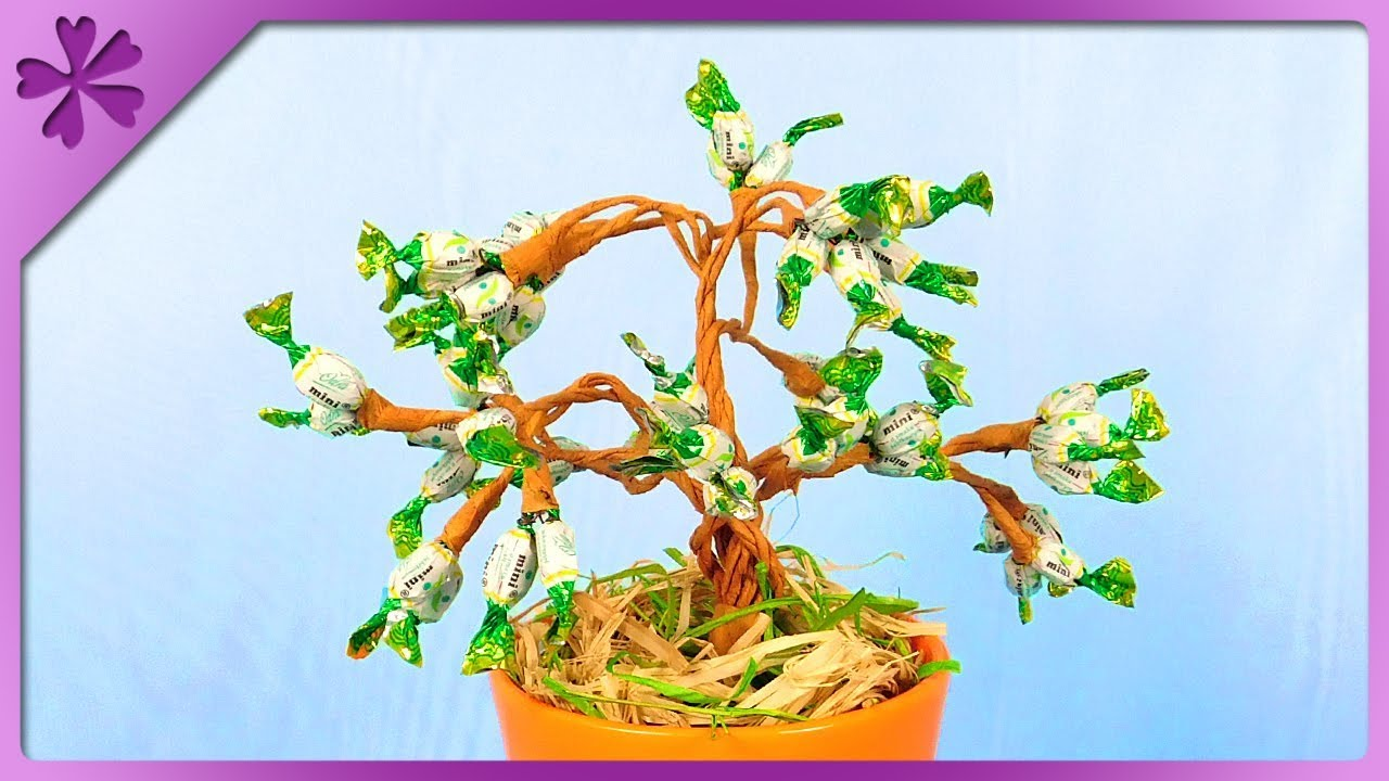 Diy How To Make Bonsai Tree Out Of Mini Candies Eng Subtitles Wiring Video Speed Up 394
