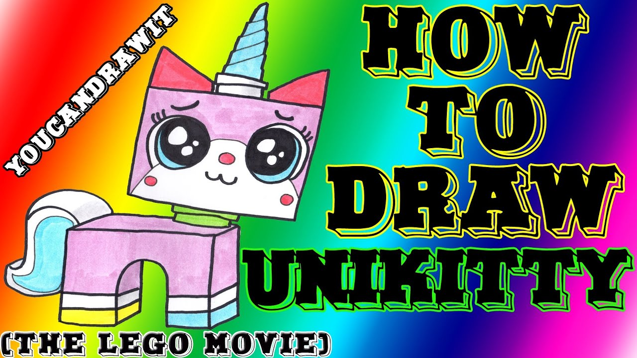 Princess unikitty coloring pages - How To Draw Unikitty From The Lego Movie Youcandrawit 1080p Hd Youtube