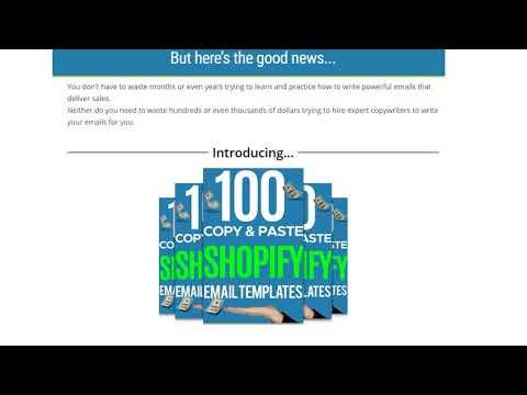 100 Copy Paste Shopify Email Templates Review 100 Copy Paste