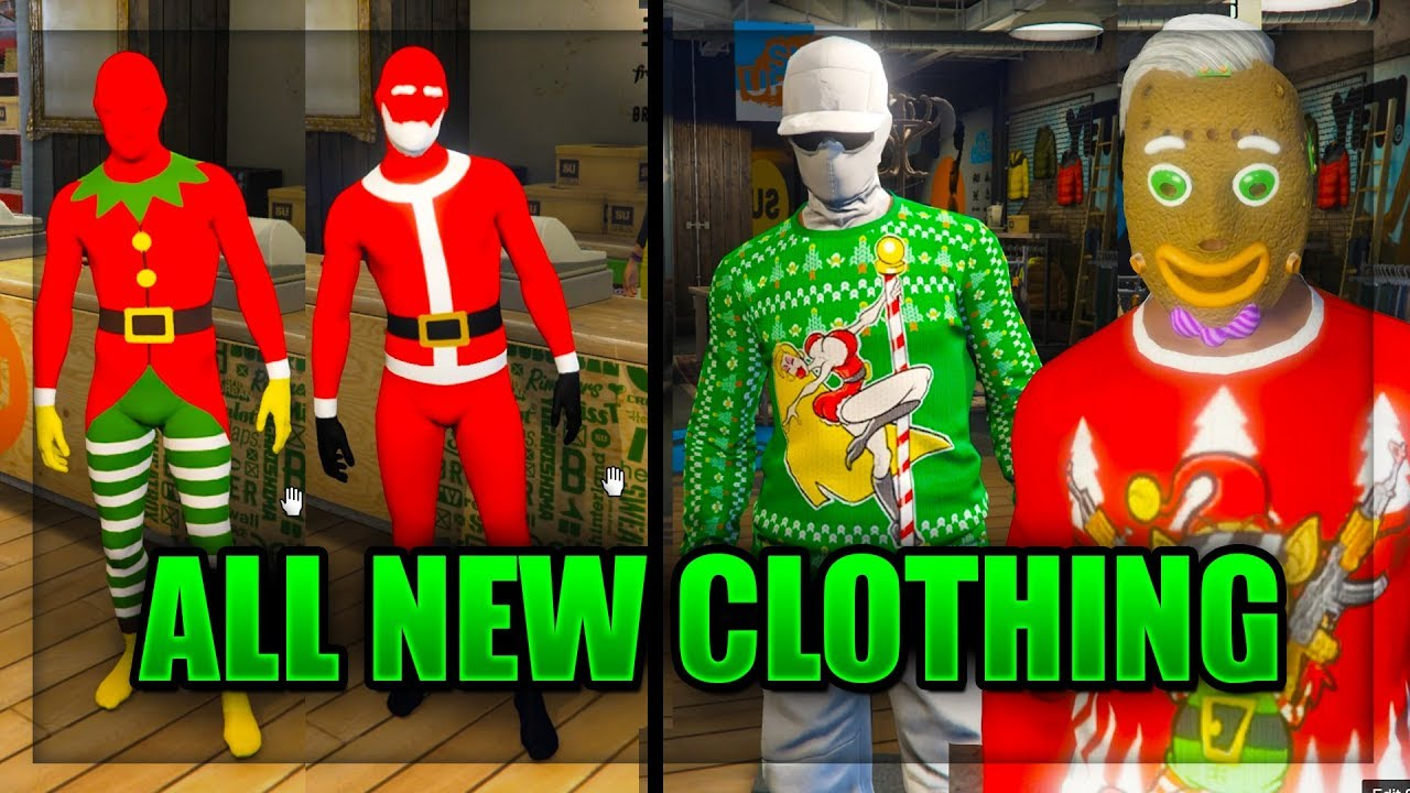 All Gta Christmas Masks.Gta Online Festive Surprise Dlc 2017 All New Clothes And Masks Christmas Dlc 2017