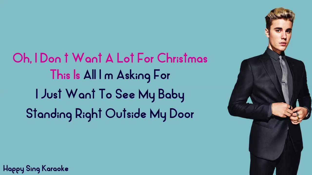 ALL I WANT FOR CHRISTMAS IS YOU - JUSTIN BIEBER (Karaoke Version)