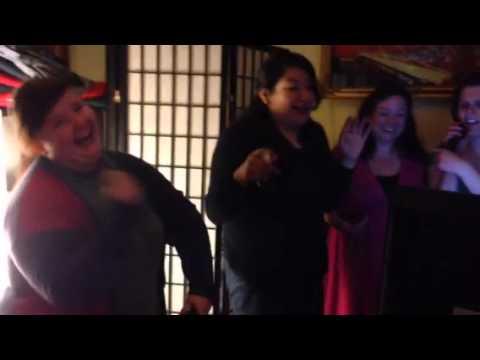 Karaoke at Korean restaurant