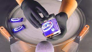 ASMR - Milky Way Ice Cream Rolls | how to make Milk Chocolate Bar and Spread to Ice Cream - Food 남자