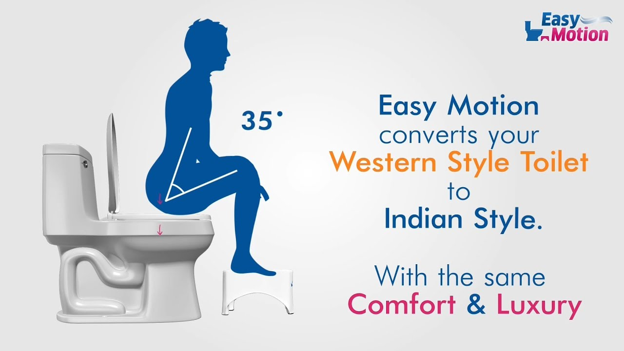 Easy Motion Stool Convert Western Toilet To Indian Toilet Youtube