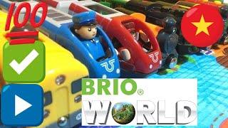 HD biên soạn 18 khác nhau BRIO gỗ xe lửa đồ chơi và đầu máy xe lửa (03784 vn)