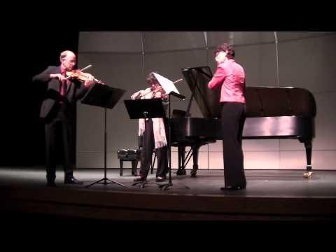 Quincy Porter Little Trio for flute, violin and viola