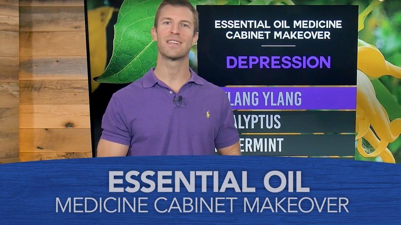 Essential Oil Medicine Cabinet Makeover