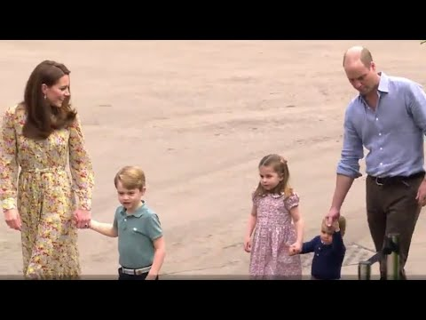 Duchess Kate Shows Chelsea 'Back To Nature' Garden To Princes George, Louis, & Princess Charlotte!