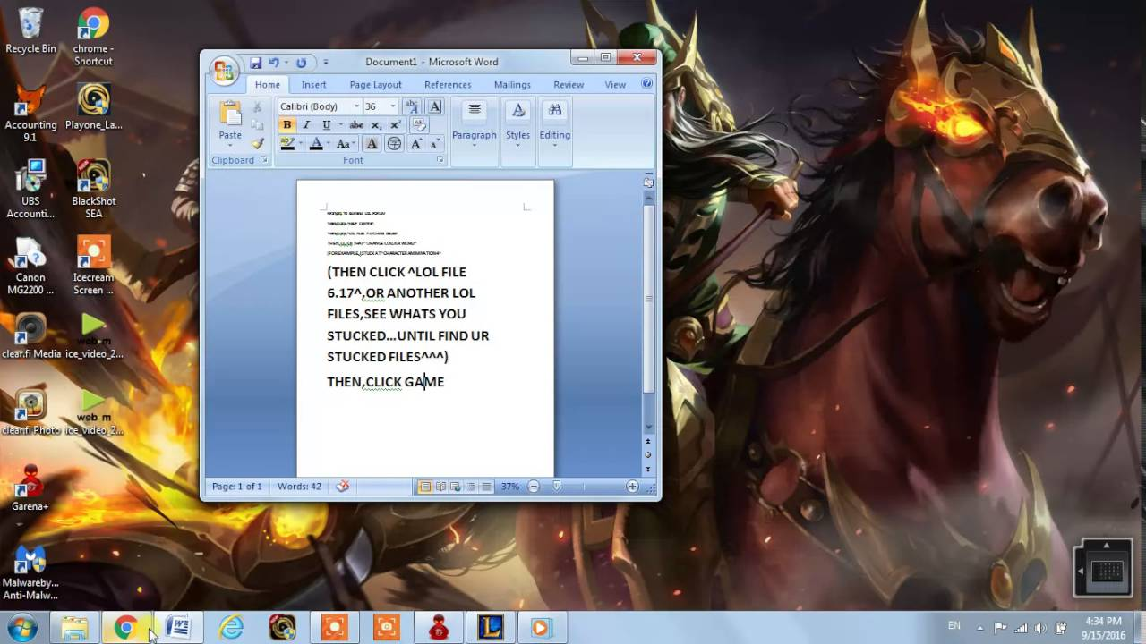 Garena-League of Legends(LOL) Update Installing stuck(FIX 100%)