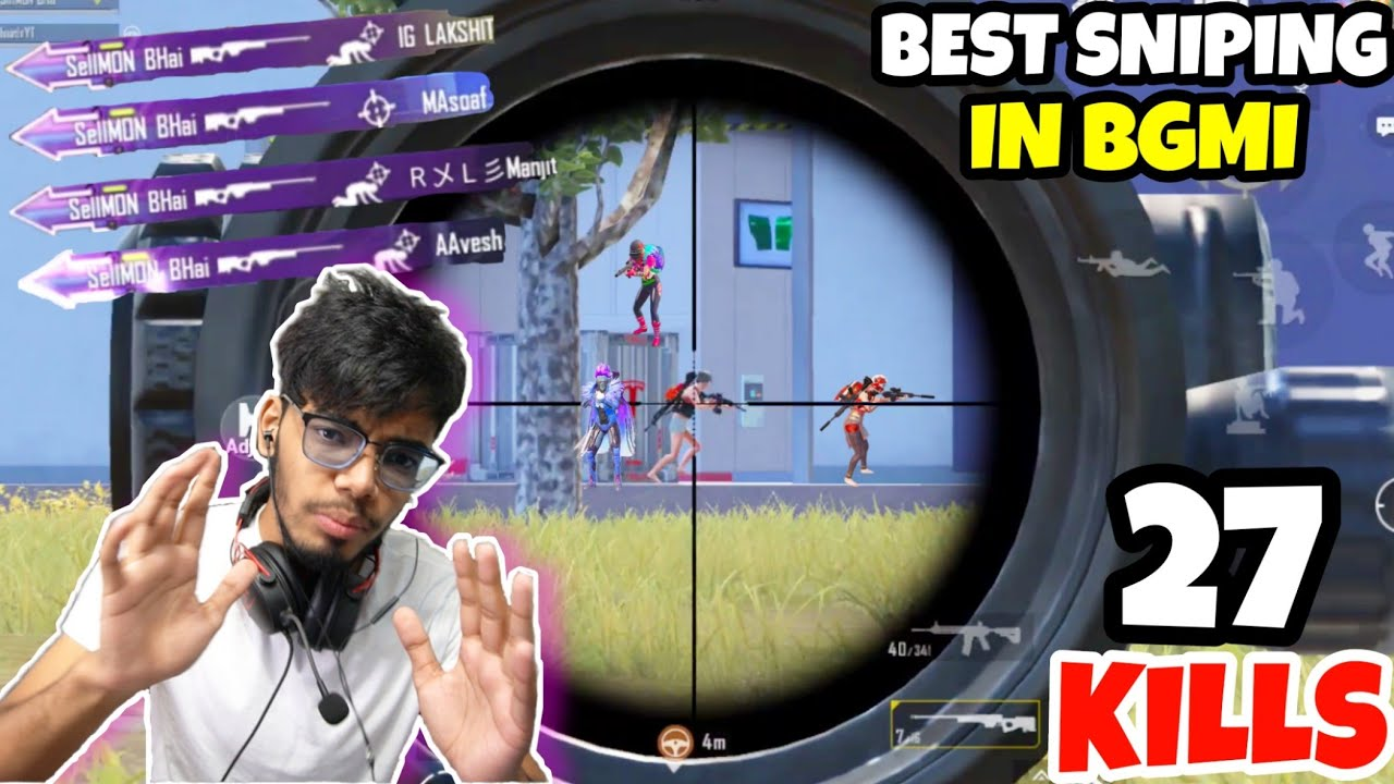 My BEST AWM Sniping Till Now in BGMI | (27 KILLS) | BGMI FACECAM Gameplay