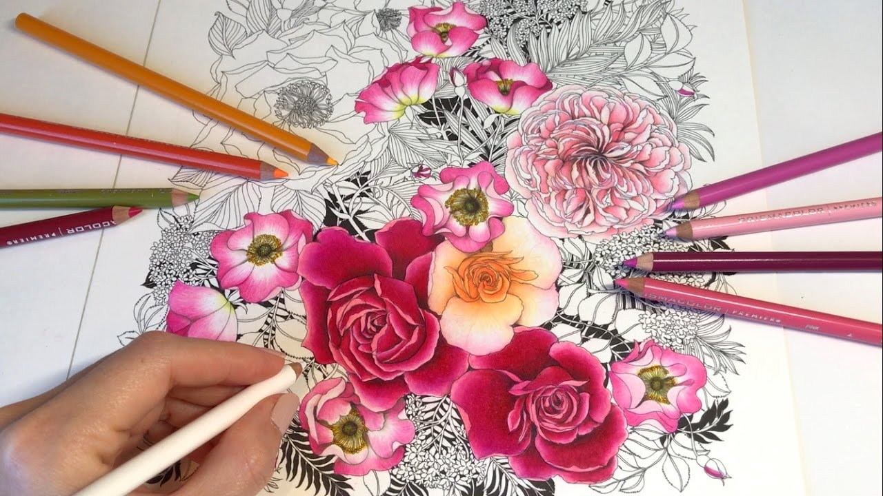 This is a picture of Satisfactory Rose Drawing Color