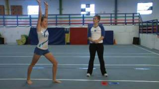 gymnastics tumbling how to do a round off