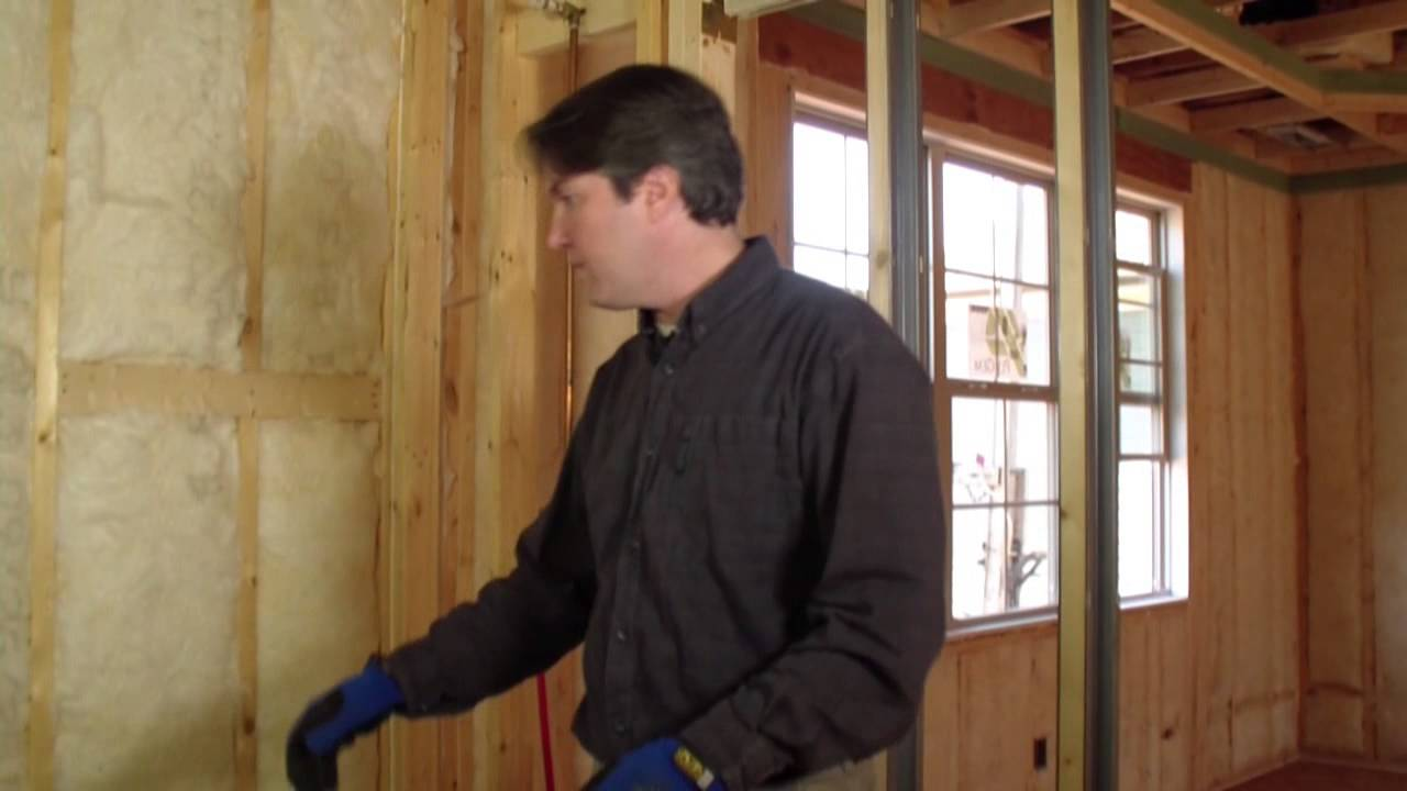 How to install batt insulation 3 3 fiber glass rock for Wool wall insulation