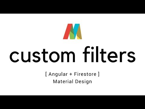 Angular 5 - Custom filters in data tables - YouTube