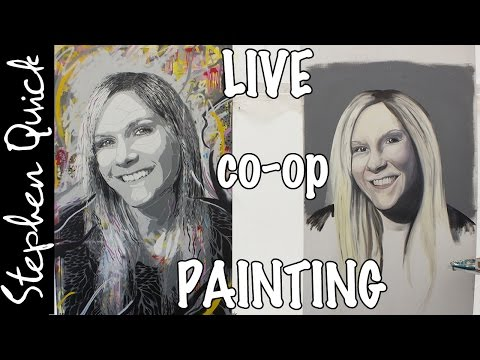 LIVE SPRAY PAINTING VIDEO | Interactive Art Project w/ Stephen Quick & Astrid Foreman