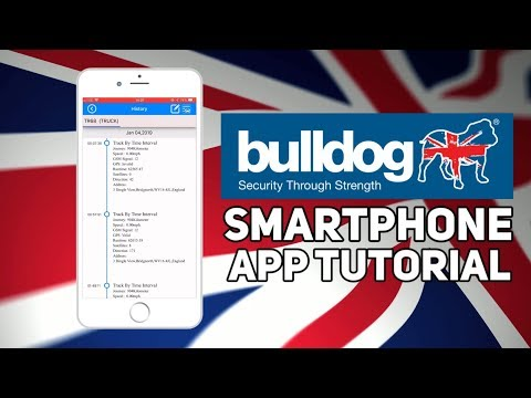 Bulldog Tracking Smartphone App - History (iOS)