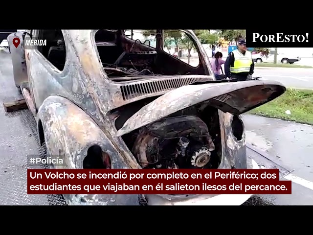 Estudiantes se salvan cuando se incendia su auto