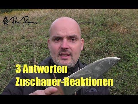 Antwort auf 3 Zuschauer-Reaktionen: Condor Messer / Billig Messer / Hultafors