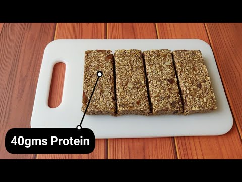 HOMEMADE PROTEIN BARS!! ( 40gms Protein ) ����