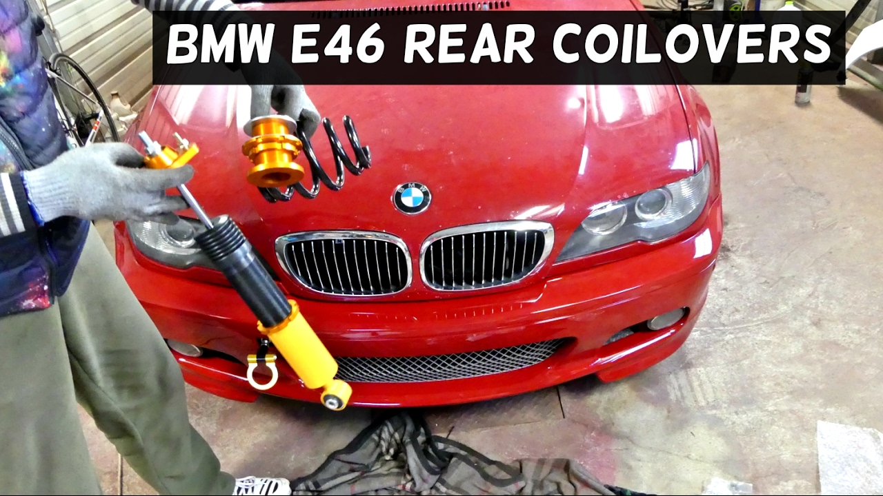 BMW E46 REAR COILOVERS COIL OVER SPRINGS INSTALL
