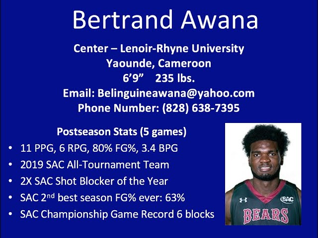 Bertrand Awana Highlights