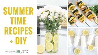 Summertime Quick, Easy, Healthy Recipes & DIY Wedding Inspiration | Limoneira