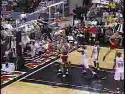 Bulls vs Heat 1997 - Game 3 - Michael Jordan 34 points