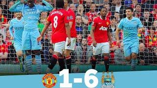 Manchester United 1 - 6 Manchester City Unforgettable Match