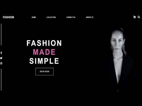 Fashion Website Design Using HTML And CSS
