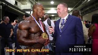 The NEW 2018 Olympia Champion Shawn Rhoden FULL After Show Interview